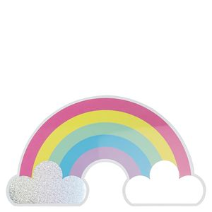 Rainbow clouds postcard