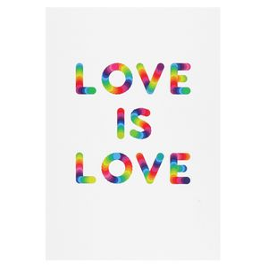 Love is love rainbow postcard