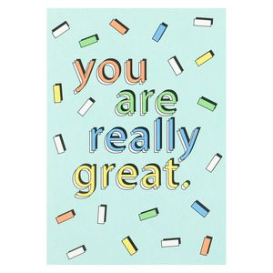 You are really great postcard