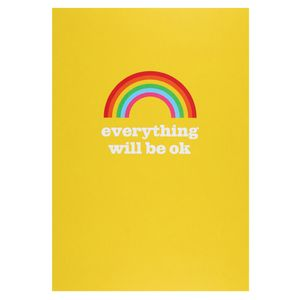 Everything will be ok rainbow postcard