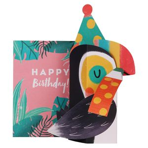Pop out 3D toucan birthday card