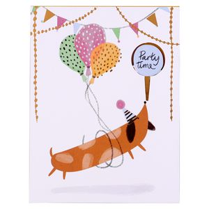 Fold out dog birthday banner card