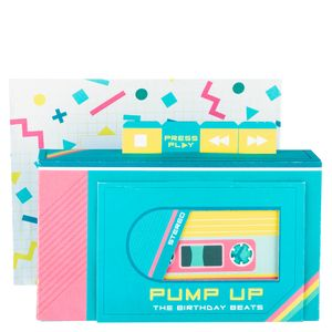 Pop out musical boom box birthday card