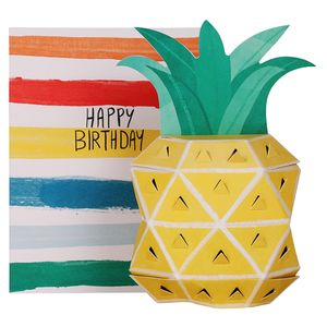 Pop out 3D pineapple birthday card