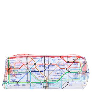 Mind The Gap square clear pencil case