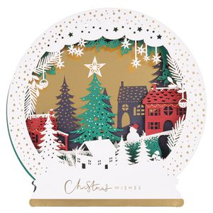 Lasercut snowglobe Christmas cards - pack of 5