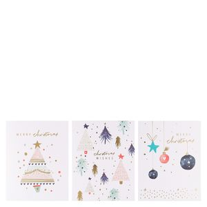Scandi trees Christmas cards - pack of 12