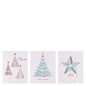 Geo 3D fold out Christmas cards - pack of 12