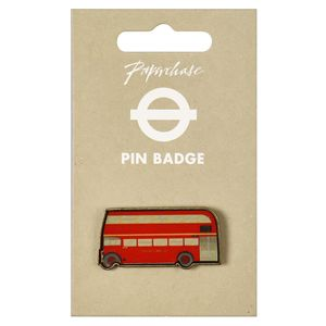 Mind The Gap London bus pin badge