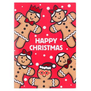 Gingerbread people Christmas cards - pack of 8
