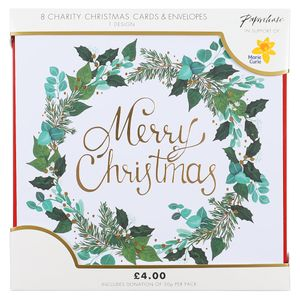 Merry Christmas wreath charity Christmas cards – pack of 8