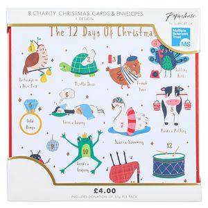 12 Days of Christmas charity Christmas cards – pack of 8