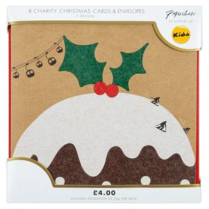 Kraft ski slope pudding charity Christmas cards – pack of 8