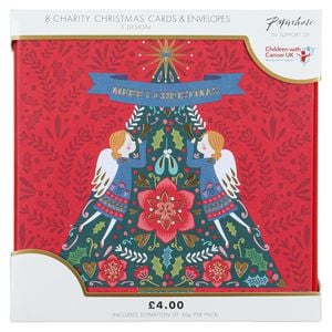 Scandi decorative tree charity Christmas cards – pack of 8