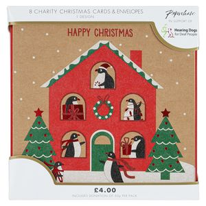 Penguin house charity Christmas cards – pack of 8