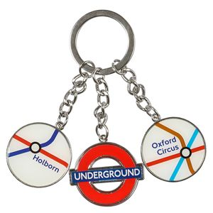 Mind The Gap tube token keyring