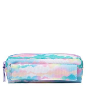 Marble print multi-pocket pencil case
