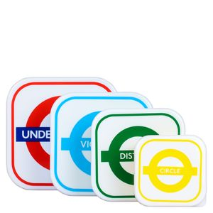 Mind The Gap nesting snack boxes - set of 4