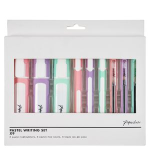 Pastel Writing Set - pack of 9