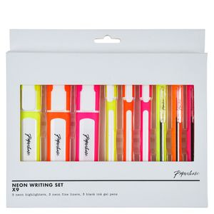 Neon writing set - pack of 9