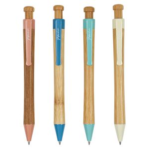 Bamboo Mechanical Ballpoint Pen