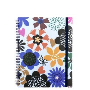A5 bold flowers ruled notebook