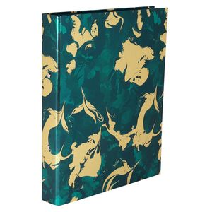 Dark Teal Marble Ring Binder