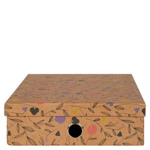 Floral kraft A4 stationery box