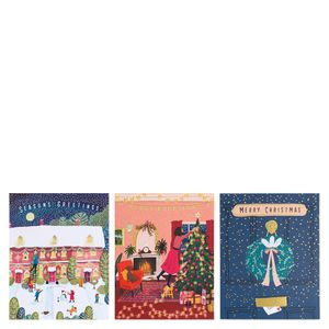 Jane Newland Christmas scene cards - pack of 12