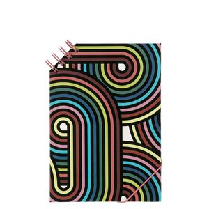 A5 Side Top Wiro Swirls Notebook