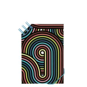 A6 Side Top Wiro Swirls Notebook
