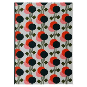 A4 geo floral notebook