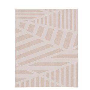 8x10 Grey Kraft Geo Stripe Notebook