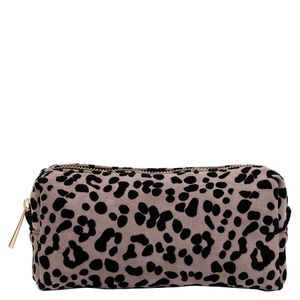 Leopard print square pencil case