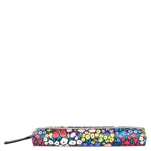 Dark floral slim pencil case