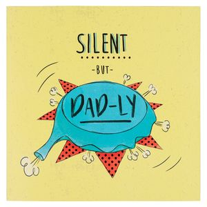 Silent but dadly whoopee cushion birthday card