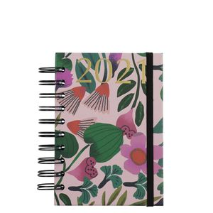A6 Wiro Pink Flower 2021 diary