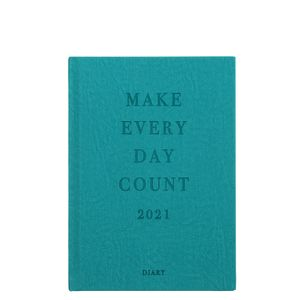 A5 Green Quote 2021 diary