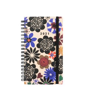 Slim bold floral 2021 diary