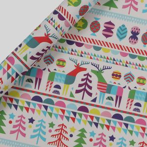 Scandi brights wrapping paper - 3m