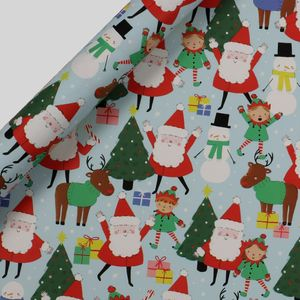 Santa and friends wrapping paper - 5m