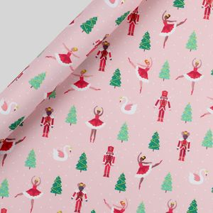 Sugar plum fairy Christmas wrapping paper - 5m