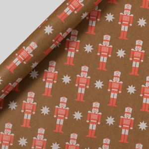 Neon nutcracker wrapping paper - 3m