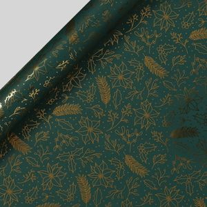 Emerald foliage wrapping paper - 3m