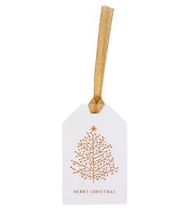 Gold trees gift tags - pack of 5