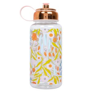 XL floral water bottle