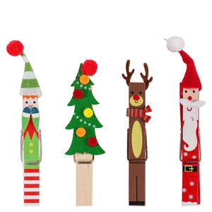 Character Card Pegs Christmas Decorations