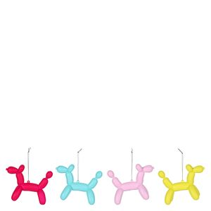 Balloon Dog Christmas Decorations - pack of 4