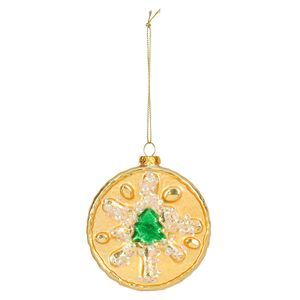 Glass Jam Biscuit Christmas Decoration