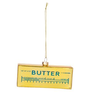 Glass Cooking Butter Christmas Decoration